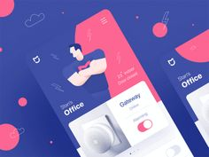 A list of top User Inteface (UI) and User Experience (UX) Design Works for Inspiration . Mobile app interfaces and Web design works. Web Design Trends, Interaktives Design, App Ui Design, Mobile App Design, Mobile App Ui, Interaction Design, Branding, Application Ui Design, Conception D'applications