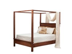 Amish Modern Shaker Canopy Bed Create a romantic atmosphere with this shaker style canopy bed from DutchCrafters.