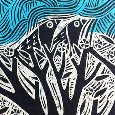 Nest Lino Cut With Chine Colle