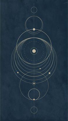 Circle/Solar system design Iphone wallpaper Created on Illustrator by Inga Hampton