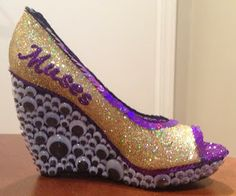 Confessions of a glitter addict: Googly Eye Muses Shoe