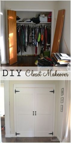 DIY closet door makeover - From folding doors to singles?