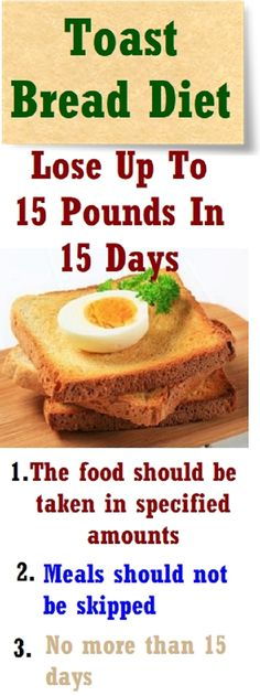 Amazing Diet with Toasted bread
