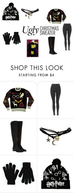 """""""If the Sweater Fits: Flaunt It!"""" by thesecretsocietyofnerds ❤ liked on Polyvore featuring Elia B, Wet Seal, Boohoo and uglychristmassweater"""
