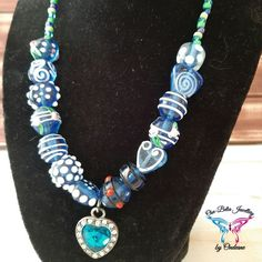 Nature's Journey – New Collection Glass Necklace, Handmade Jewellery, Crystal Pendant, Seed Beads, Glass Beads, Sparkle, Journey, Pendants, Turquoise