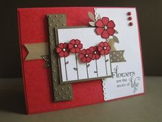 red and brown ~ cute anything card
