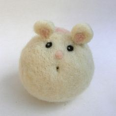 Felt Mouse needle felted toy natural waldorf toy by Fairyfolk, $23.00