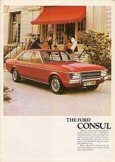 Ford Consul 1972-73 UK Market Sales Brochure Base L GT Estate Granada Mk1
