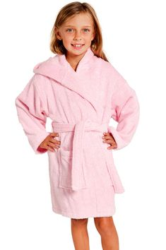 Pink Hooded Terry Kid's Bathrobe - $16.99 each