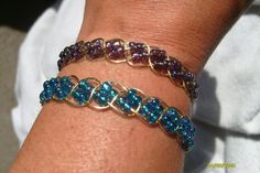 Double Row Wire Wrapped Bracelet by earthlytreasures on Etsy