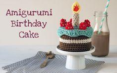 Amigurumi birthday cake made by Lanukas - free pattern - gratis patroon   #crochet #crocheting #haken #haakpatroon