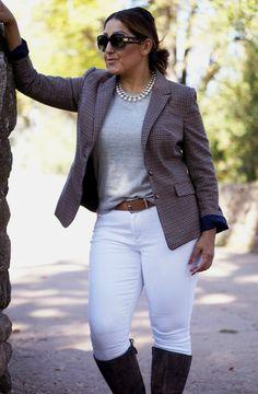 Tweed blazer and whi