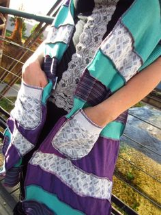 One of a kind Up Cycled Patchwork Shawls in fabric  with up cycled patchwork clothing Accessories
