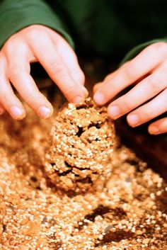 Birdseed Ornaments for outdoor pine trees