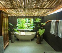 Villa Ubud Secret Designed and built by Warren and Robbin Master bath