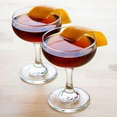 The Hanky Panky:          1.5 oz Gin      1.5 oz Sweet vermouth      2 dashes Fernet-Branca    Garnish: Orange twist    Glass: Cocktail