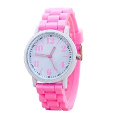 2017 New Arriva Women Silicone Watch For Students Girls Quartz Watches Reloj Pulsera Mujer Analog Sports Womens Watches Shop Usa, Casual Watches, Luxury Watches For Men, Watch Case, Sport Casual, Watch Brands, Sport Watches, Color Negra, Bracelet Watch