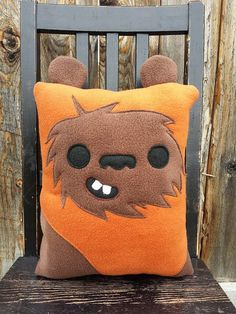 Ewok star wars pillow cushion gift by telahmarie on Etsy