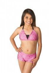 Bikini Set in Waverlee's Malibu Pink - Bikini Sets - Swim Suits Fin Fun Mermaid Tails, Pink Bikini Set, Swimsuits, Bikinis, Swimwear, Mermaids, Bikini Tops, That Look, Swimming