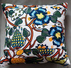 "Unique Marimekko Pillow Cover Handmade 16""x16"" (40x40cm) by PantsandPillows"