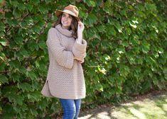 Fallow Fawn Roll Neck Sweater - Free Crochet Pattern by Hopeful Honey