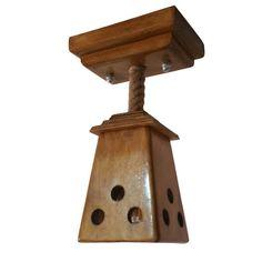 Produsul este lucrat manual. Materialul este uscat si lacuit pentru o buna conservare a lemnului. Functioneaza cu 1 bec cu soclu de tip E27, becurile nefiind incluse in pret Produsul este realizat din materiale naturale Detalii produs Talpa care se fixeaza pe tavan Dimensiuni: lungime 17 cm/latime 12 cm/inaltime 4,5 cm Abajur/corp lustra Dimensiuni: lungime 12 cm/latime 12 cm/inaltime 18 cm Inaltime totala 31cm Greutate: 2 Kg Materiale: lemn de fag, lemn de molid si iuta Bottle Opener, Barware, Wall, Home, Ad Home, Walls, Homes, Haus, Tumbler
