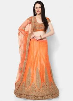 Buy online shopping lehenga choli at -Hyderabad. Orange Lehenga, Lehenga Choli Wedding, Choli Designs, Lehenga Choli Online, Indian Ethnic Wear, Orange Color, Colour, Two Piece Skirt Set, Fancy