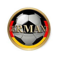 #Germany #Soccer Ball Round Stickers by #gravityx9