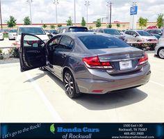 https://flic.kr/p/J4GiFo | Happy Anniversary to Rita on your #Honda #Civic Sedan from Teal McDonald at Honda Cars of Rockwall! | deliverymaxx.com/DealerReviews.aspx?DealerCode=VSDF