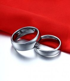Couple's Classic Domed Tungsten Carbide Rings Matching Set with High Polish - Tungsten Republic