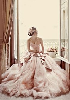 If only I had this beautiful gown to wear while sitting in my beautiful window.
