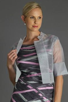 The pure silk organza jacket is the perfect piece for over your mother of the bride dress or mother of the groom dress which gives you a sleeve for a little coverage. The Organza Jacket is sheer elegance for the modern and elegant mother for the bride and mother of the groom. For plus size ladies, all of our garments can be made to measure. Visit www.livingsilk.com to view our latest collection #puresilk #motherofthebridedresses #motherofthegroomdresses #livingsilk