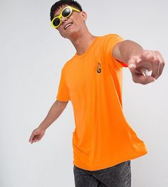 Reclaimed Vintage Inspired Oversized Rave T-Shirt In Neon With Embroid
