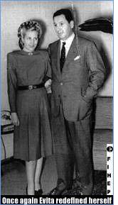 """17. Las esposas previas no hicieron nada, pero Evita quería hacer muchisimo. Ella usó su marido para empezar unos programas para los """"descamisados"""""""