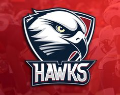HAWKS Logo design - Logo for a sports team. Can use the football team, basketball team, baseball team, school sports teams, etc. The name may be different. For example: Falcons, Xipiters, Eagles, Condors. Price $299.00