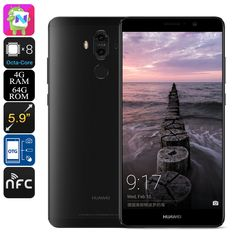 Huawei Mate 9 Android Smartphone - Android 7.0, Leica Camera, Octa-Core CPU, 4GB RAM, 5.9-Inch Display, OTG, Fingerprint (Black) - Huawei Mate 9 is a flagship Android phone that features an absolutely stunning 20MP Dual-Lens Leica camera - taking mobile photography to entirely new heights.
