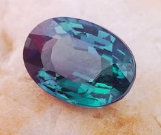 Excellent color change alexandrite oval weighing 1.77 cts, from Andrapradesh, India