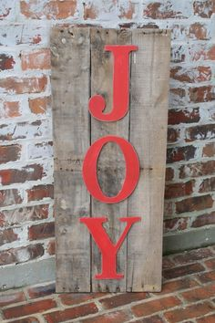 Joy Pallet Sign www.adiamondinthestuff.com