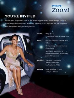 Join Philips Zoom and Us Weekly live at The Grove on September 21st from 12:00 to 8:00 for a day full of Red Carpet glamour, including complimentary makeovers, tips from celeb makeup artist, Collier Strong and red carpet appearances!