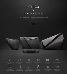 NIID is raising funds for The World's First Convertible and Customizable Carry Bags on Kickstarter! A Customizable Everyday Carrying Solution from NIID Waterproof Coat, Carry On Bag, First World, Leather Wallet, Convertible, Wallets, Battle, Pouch, Bags