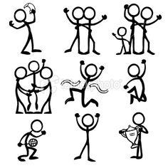 Stickfigure Celebration Royalty Free Stock Vector Art Illustration