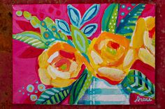 Study of Abstract Flowers No. 03 Original Acrylic by AlaskanGrace