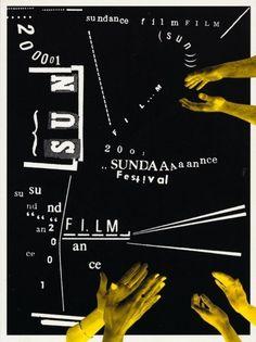 Martin Venezky, Sundance Film Festival poster (2001)