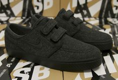 "Nike SB Janoski Low AC RS (Velcro) ""Black Wool"""