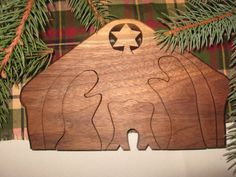 wooden nativity puzzle by Teaberrywoodproducts on Etsy