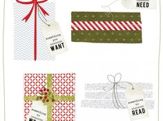 four gifts tags