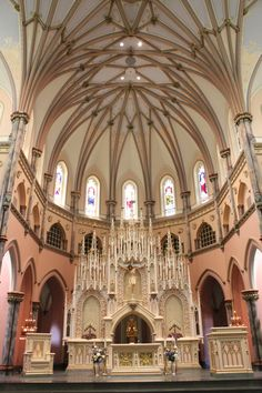 Illinois main altar constructed by j a birkey and associates