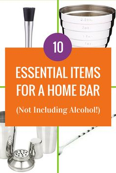 You don't need a bar to have a home bar but you do need some bartender essentials.  Here are ten of them to start you making cocktails at home (affiliate links in post)