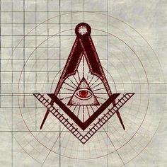 Painting - Freemason Symbolism by Esoterica Art Agency , Canvas Prints, Framed Prints, Art Prints, Freemason Symbol, Masonic Art, Knights Templar, Occult, Art Boards, Wall Tapestry