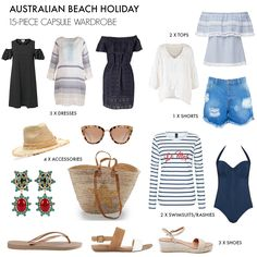 If you're heading to the beach this summer don't miss our tips on what to pack for an Australian holiday at the beach, including a 15-piece capsule wardrobe
